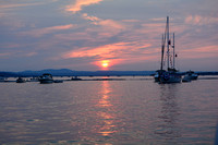 Burlington Harbor sunset