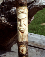 carved hiking stick